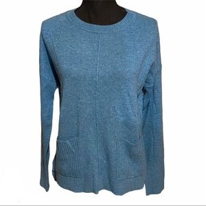 Tahari Pure Luxe 100% Cashmere Pocket Sweater S